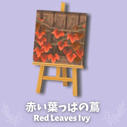 red leaves ivy top
