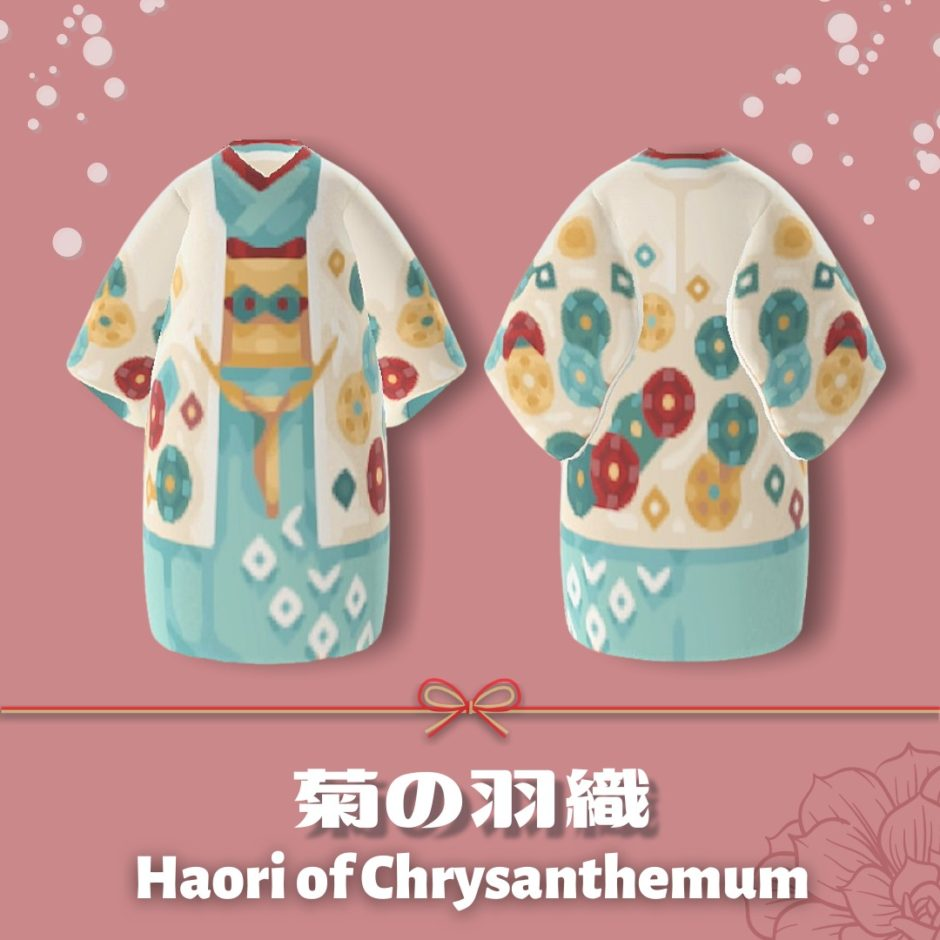 haori of chrysanthemum