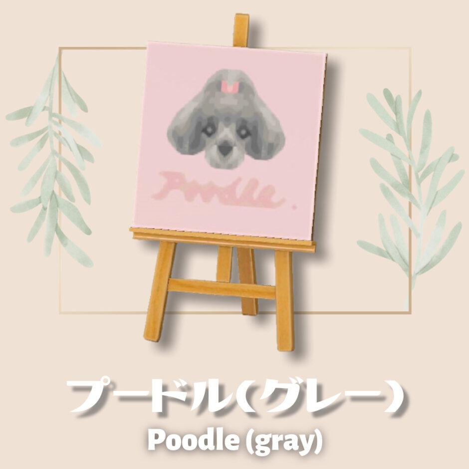 poodle gray
