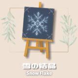 雪の結晶1 [Snow Flake1]【あつ森マイデザ】