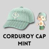 コーデュロイキャップ・ミント [Corduroy Cap - Mint]【あつ森マイデザ】