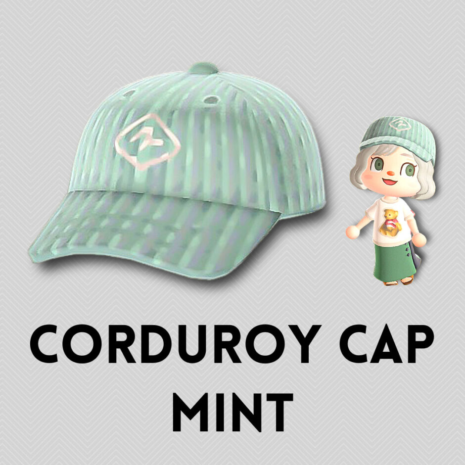 corduroy cap mint