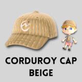 コーデュロイキャップ・ベージュ [Corduroy Cap - Beige]【あつ森マイデザ】
