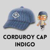 コーデュロイキャップ・インディゴ [Corduroy Cap - Indigo]【あつ森マイデザ】
