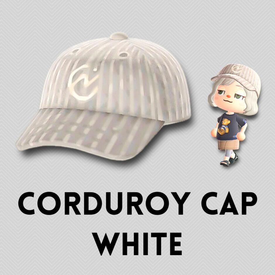 corduroy cap white