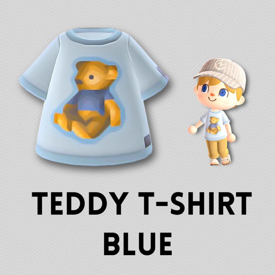 teddy t shirt blue