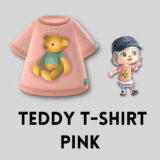 テディベアTシャツ・ピンク [Teddy T Shirt - Pink]【あつ森マイデザ】