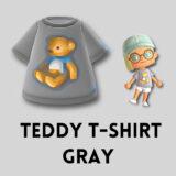テディベアTシャツ・グレー [Teddy T Shirt - Gray]【あつ森マイデザ】