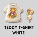 テディベアTシャツ・ホワイト [Teddy T Shirt - White]【あつ森マイデザ】