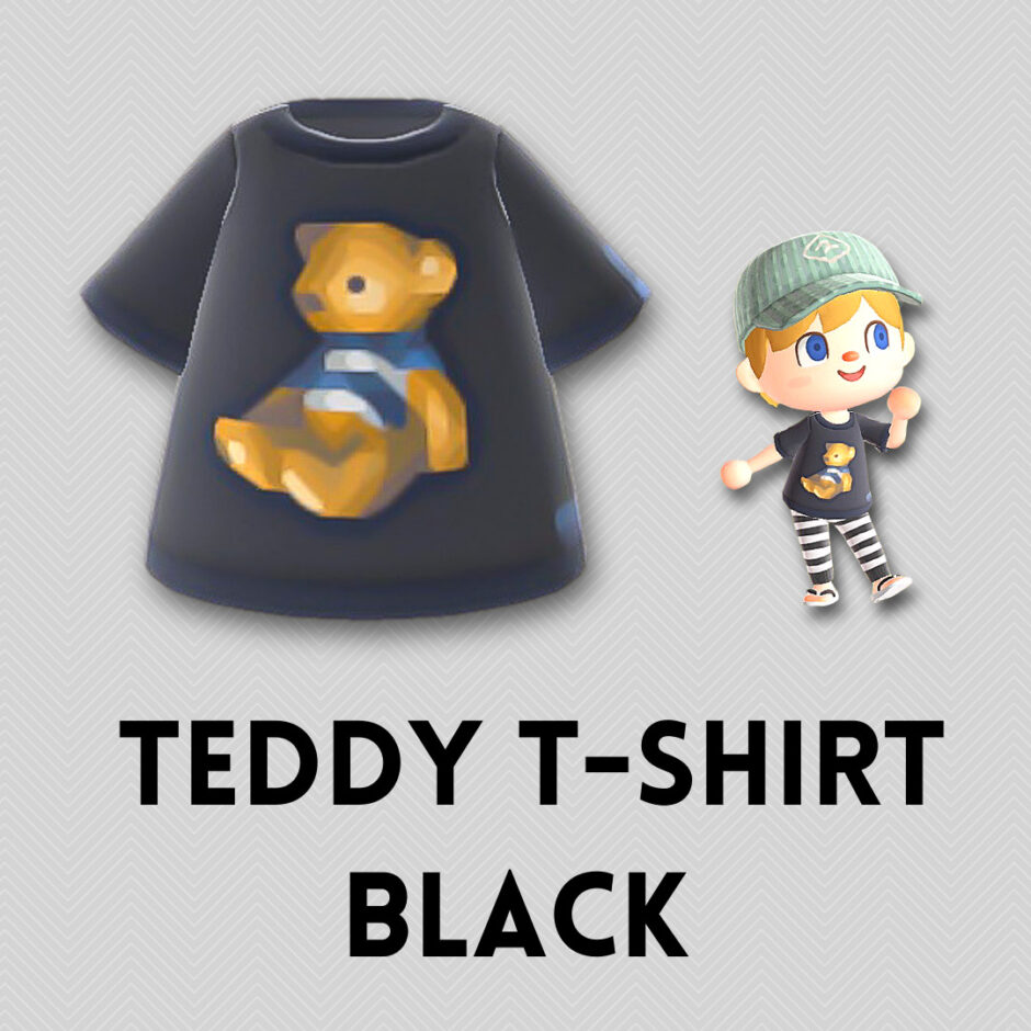 teddy t shirt black