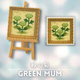 緑の菊 [Green Mum]【あつ森マイデザ】