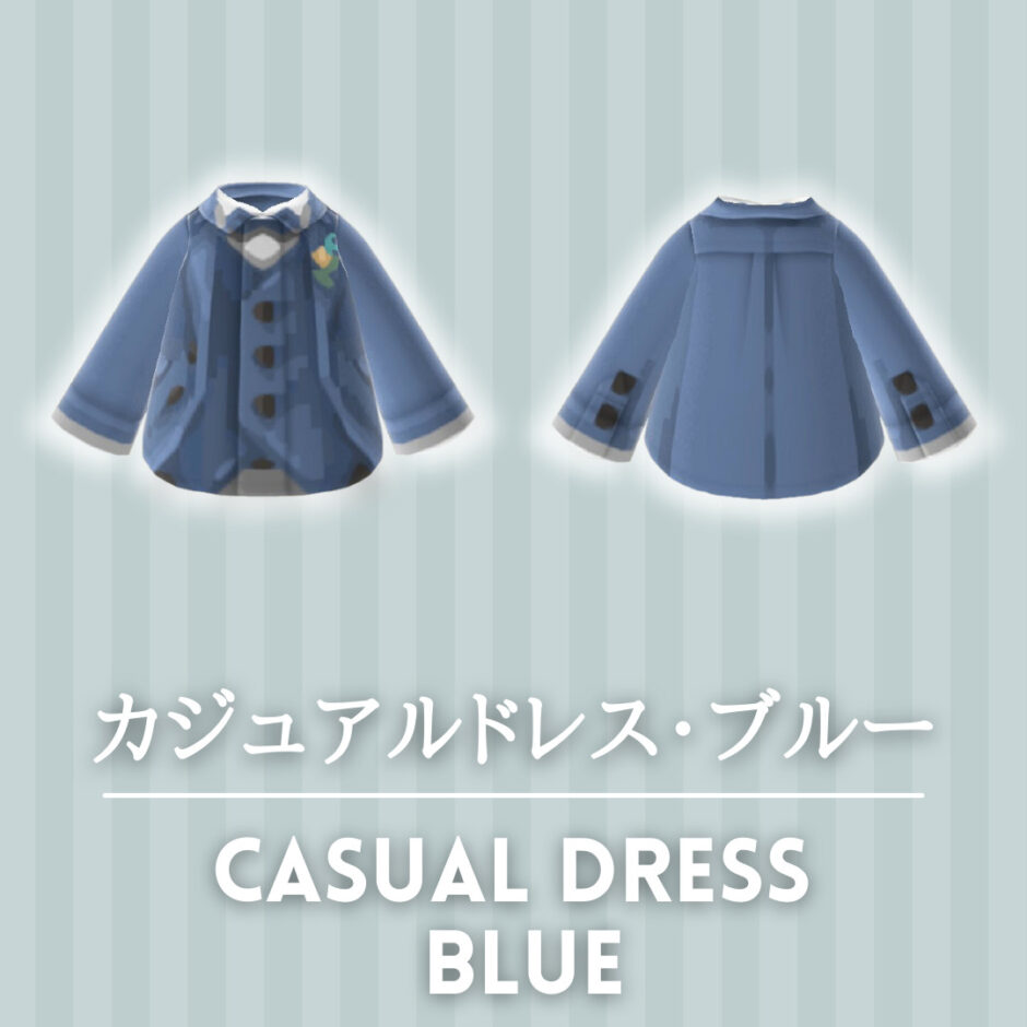 casual dress blue